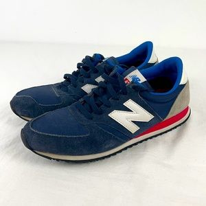 New Balance 420 Navy Suede Sneakers